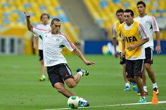 Jorge Torres Nilo durante el entrenamiento previo al encuentro vs Italia