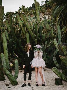 Cactus Wedding, Boho Wedding, Dream Wedding, Lesbian Wedding, Wedding Vintage, Grunge Wedding, Wedding Desert, Wedding Story, Wedding Hair