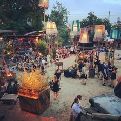 Sisyphos (alte Hundekuchenfabrik) - Outdoor festival vibe club with a variety of music. Has several stages, drinks and some food. Might only be open Thursday through Monday. |  Hauptstr. 15