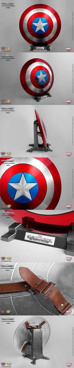 #CaptainAmerica The #WinterSoldier 1/1 Scale Shield Replica - Classic Shield With Display Stand - Midtown Comics