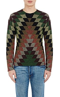 The Diamond-Pattern Rib-Knit Sweater from Valentino