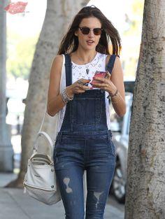 Alessandra Ambrosio does some solo shopping in Santa Monica, California on February 24, 2014