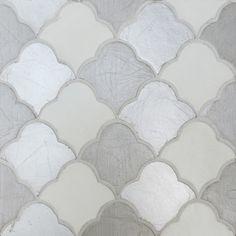 Tabarka Masouda hand painted metallic silver tiles #UniqueTile
