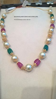 Latest Collection of best Indian Jewellery Designs. Emerald Jewelry, Gems Jewelry, Pearl Jewelry, Beaded Jewelry, Beaded Necklace, Cartier Jewelry, Necklaces, India Jewelry, Temple Jewellery