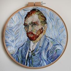 Art History Masterpieces Reimagined as Hand-Sewn Embroidery