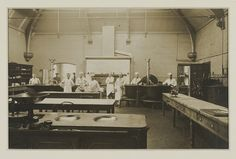 Harold working in the kitchens at Dudley Road Hospital, 1916 Birmingham Museum, Birmingham England, Modern Family, Family History, First World, Kitchens, Youth, Eye, Green