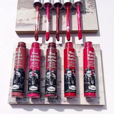 Tintas matte de The Balm.  #Labios #TheBalm #Lipstick