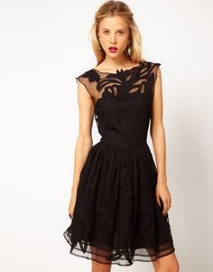 82ae7fc0058 Asos Collection Asos Gothic Prom Dress in Black