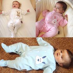 Personalised Baby Bunny Sleepsuits www.teenybeanies.co.uk