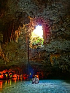 ....I'll raft through an underground cenote in Mexico