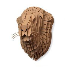 Leon Lion Trophy Head in Cardboard.