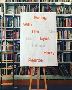 Getting ready for Harry Pearce's launch for his new book Eating With the Eyes this Monday!