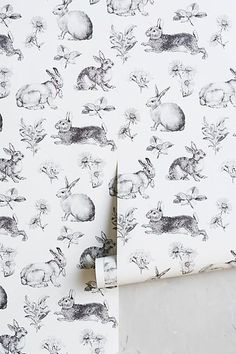 Toile Lapin Wallpaper - anthropologie.com