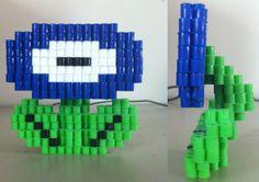 3D Mario Fire Flower perler beads by eightbitbert on deviantART