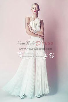 c5370521b33c Charming chiffon bridal jumpsuit for beach wedding Custom made - Wedding  Pant Suits