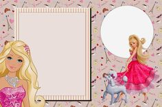 Barbie Magic and Fashion: Free Printable Invitations.