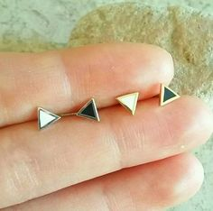 Free shipping on additional items   These classic gold and silver triangle cartilage earrings are cute little additions to your daily wear.