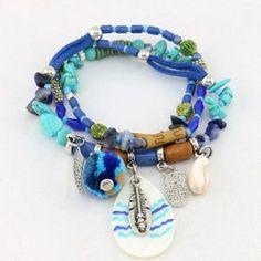Bracelet 2 en 1 bleu #parissima