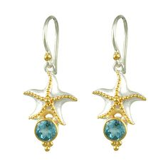 michou jewelry | ... blue topaz wire earrings the total length of the earrings is approx