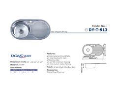 Dongyuan - 35 inch #304 Stainless Steel 20 Gauge Single bowl single bowl single drain Kitchen Sink