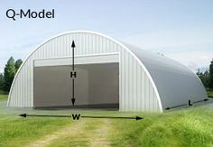 Future home: Q-Model steel quanset hut from Mayflower Steel Buildings