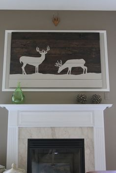 Living, By Lauren: Oh Deer! DIY art