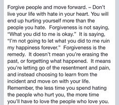 Forgive and move on.