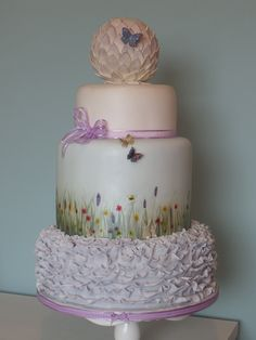 summer meadow cake by Patricia Mann Cake Designs