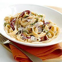 Enjoy a tasty and delicious meal in Learn how to make Creamy ham tagliatelle and get the Smartpoints of the recipes. Weith Watchers, Weight Watchers Uk, Weight Watcher Dinners, Ww Recipes, Healthy Recipes, Salsa, Eat Smart, Dinner Sides, The Fresh