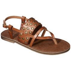 Womens Mossimo Supply Co. Strappy Flat Sandal - Cognac I want them!!!!!!!!!!! There at target!