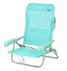 Crespo.Mod 221: Silla cama playa- beach chair bed.  6 posiciones y tela multifibra. Bolsillo posterior y asa. Multifiber fabric and 6 positions. Back pocket and handle