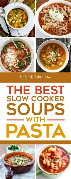 I crave soup when it's cold and The BEST Slow Cooker Soups with Pasta have the perfect combination for cold-weather comfort food! [found on Slow Cooker or Pressure Cooker] I crave soup when it's cold and Slow Cooker Casserole, Slow Cooker Pasta, Best Slow Cooker, Slow Cooker Recipes, Crockpot Recipes, Chili Recipes, Crock Pot Soup, Crock Pot Cooking, Delicious Breakfast Recipes