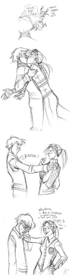 'Harry and Ginny ~ That dang chest creature' by makani.  I freaking love Harry and Ginny in the books.