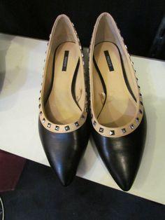 Forever 21 Black/Beige Studded Flats Size 8 $25 #shoes #flats