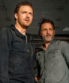 Rick and Aaron in The Walking Dead Season 7 Episode 7 | Sing Me a Song