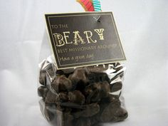 "A pound of our best-selling chocolate covered cinnamon bears, with a tag that reads, ""To the BEARY best missionary around!  Have a great day!""    Includes:  1 lb. chocolate covered cinnamon bears, tag and ribbon"