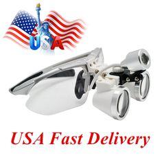 57.62$  Buy now - Dental equipment Surgical Medical dental Loupes dental glasses 3.5X 420mm +LED Head Light Lamp Silver dental lab  #buyonlinewebsite