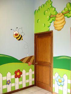 Murales en Colegios: Detalle de Pasillo