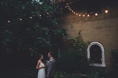 Intimate French-Inspired Wedding in Seattle: Kelsey + Bastien - just can't get enough of festoon lights!