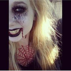 Spider makeup #halloween