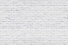 Clean White Brick Wall Mural, custom made to suit your wall size by the UK's No.1 for murals. Custom design service and express delivery available.