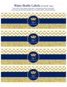 Royal Prince Birthday Party Decoration Printables, Blue, Go Baby Shower Boho, Baby Shower Azul, Baby Shower Bunting, Baby Boy Shower, Prince Birthday Party, Birthday Gift For Him, 1st Boy Birthday, Imprimibles Gratis Baby Shower, Royal Party