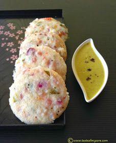 Taste of Mysore: Onion Idli