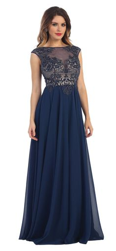 2016 Long Cap Sleeve Mother of Bride Plus Size Dress Formal