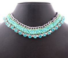 Vogue Crafts & Designs Pvt. Ltd. manufactures Bliss of Blue Necklace at wholesale prices.
