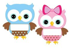 So many colors to choose from, too! Owl Theme Classroom, Classroom Calendar, Owl Labels, Imprimibles Baby Shower, Owl Wallpaper, Birthday Charts, Kawaii Doodles, Owl Patterns, Baby Owls