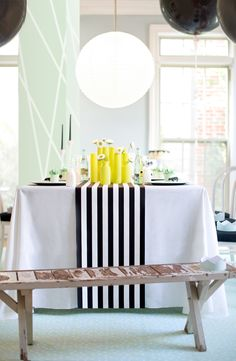 Accenting black + white with pops of color!