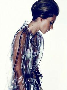 miss salazar´s fashion world: Prada Transparent Raincoat