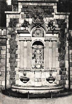"""Königsberg Pr.   König Friedrich Wilhelm I. Denkmal in Königsberg an der Altstädtischen Bergstraße. Friedrich Wilhelm I. aus dem Haus Hohenzollern (* 14. August 1688 in Berlin; † 31. Mai 1740 in Potsdam) war von 1713 bis zu seinem Tod König in Preußen und Markgraf von Brandenburg. Er trägt den Beinamen """"Soldatenkönig"""". Ansichts ca. 1934."""