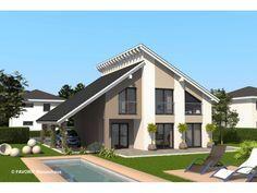 Einfamilienhaus modern pultdach  Chalet 132 - #Einfamilienhaus von Bau Braune Inh. Sven Lehner ...
